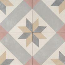 Granada by Jatana Interiors Granada, Porch Tile, Caravan Vintage, Outdoor Tiles, Feature Tiles, Encaustic Tile, Concrete Tiles, Barn Quilts, Mosaic Tiles