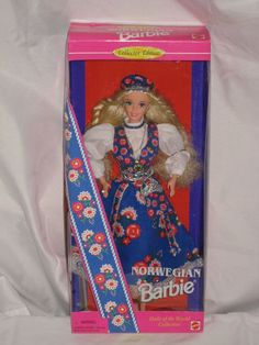 1995 Norwegian Barbie in Bunad Dress for Celebrations Dolls of The World | eBay