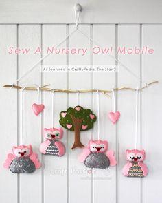 Sew A Nursey Owl Mobile pdf freebie, stunning: thanks so xox