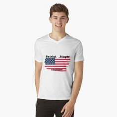 Patriotic prayer. Remember 9/11 martyrs by doing patriot prayer on this 11 September. Torn flag design. check the link My T Shirt, V Neck T Shirt, America Election, Army Usa, 11. September, United States Army, New Love, Joe Biden, Tshirt Colors
