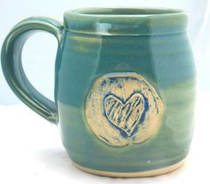 I like this mug because of the beautiful color and well as the heart in the middle