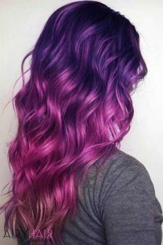 purple hair ombre Ideas For Hair Color Purple Ombre Magenta There are many diff Pink Purple Hair, Hair Color Purple, Cool Hair Color, Ombre Colour, Purple Ombre Hair Short, Purple Dye, Bright Hair Colors, Hair Dye Colors, Blonde Ombre Hair
