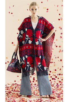Alice + Olivia's large floral prints with a tribal edge are on-trend.