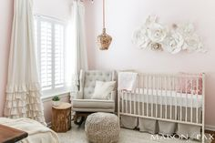 Looking for soft, feminine, modern nursery decor? With tons of textured neutrals and copper accents, this blush nursery is both sweet and sophisticated. Get ideas and inspiration for DIY projects and sources for your little girl's nursery! Blush Nursery, Pink And Gray Nursery, Nursery Neutral, Brown Nursery, Modern Nursery Decor, Nursery Themes, Nursery Ideas, Baby Bedroom, Girls Bedroom