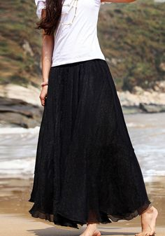 Circle Maxi Skirt - Black Maxi Skirt Black, Dress Skirt, Lace Skirt, Halloween Sale, Elements Of Style, Ballet Skirt, Stylish, My Style, Skirts