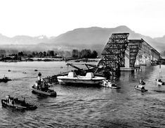 Vancouver, B. - Second Narrows Bridge Collapse, June Vancouver Bc Canada, Vancouver City, Vancouver Island, Personal History, Historical Pictures, Surrey, Old Pictures, British Columbia, Family History