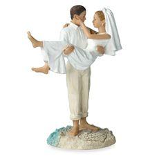 Beach Wedding Couple Figurine - Caucasian $32.99