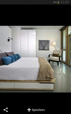 Seen on Houzz: bedroom with an IKEA MANDAL bed