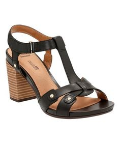 Love this Black Banoy Valtina Leather Sandal on #zulily! #zulilyfinds