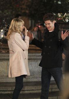 More Set Photos Of Peter And Gwen On The Set Of THE AMAZING SPIDER-MAN 2
