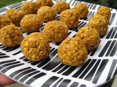 Sweet Peas and Pumpkins: Pumpkin Oatmeal No-Bake Cookies (Vegan/Gluten-Free/Nut-Free)