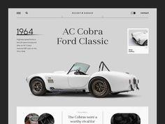 Ac Cobra, Ui Web, Garage, Design Inspiration, Web Design, Website, Classic, Speed Limit, About Uk