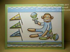 Tarheel Stamper: Tarheel Stamper - Baby Monkey Card