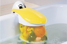 Pelican Bath Toy Storage Pouch - eclectic - toy storage - One Step Ahead Our Baby, Baby Boy, Bath Toy Storage, Storage Basket, Storage Bins, Storage Ideas, Baby Gadgets, Kits For Kids, Bath Toys