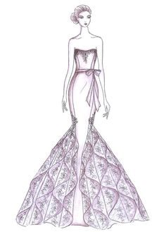 Fall 2013 collection sketch | Kelly Faetanini | brides.com