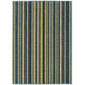 Found it at Wayfair - Capri Indoor/Outdoor Stripe Blue & Brown Area Rug