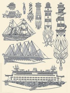 Creative Kyler, Nautical, Sea, Illustration, and Martz image ideas & inspiration on Designspiration