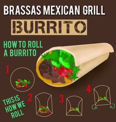 When you fold the bottom part tuck it under the toppings then roll. #burrito