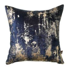 The Moonstruck cushion combines glamour with sophisticated edge. In a luxurious velvet style fabric layered with an abstract metallic effect, this is urban-chic at its most stylish Navy Blue Cushions, Navy Sofa, Scatter Cushions, Cushions On Sofa, Couch, Wire Pendant Light, Bubble Chandelier, Barker And Stonehouse, Jewel Colors