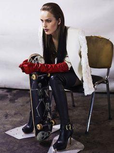 opaqueglitter:    Karolina Waz By Michal Kar And Maciej Piorko ForFashion Gone RogueGlam Rock Chic