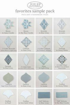 Order tile samples for your next kitchen or bathroom renovation | juleptile.com