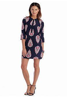 crown & ivy™ Rethink Pink Three Button Popover Dress - Bel