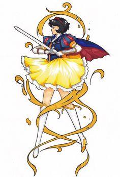 Snow White Knight She looks kind of like kiki. Arte Disney, Disney Magic, Disney Art, Disney Illustration, Illustrations, Disney And More, Disney Love, Disney And Dreamworks, Disney Pixar