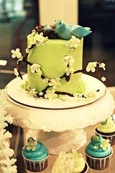 How Tweet It Is Baby Shower - Kara's Party Ideas - The Place for All Things Party baby shower ideas, baby boy shower, baby boys, bird nests, baby shower themes, bird theme, cupcake towers, babi shower, baby showers