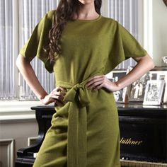 Sassy! This soft, 100% baby alpaca scoop neck dress with self-tie waist pulls double-duty as a work staple and cocktail hour stunner! Now on sale! https://www.thealpacagroupnw.com/product/etniko-scoop-dress