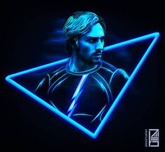 "1,450 Likes, 48 Comments - Aniket Jatav (@aniketjatav) on Instagram: ""63/365 : NEON MARVELS Artwork : 27 - @aarontaylorjohnson as QUICKSILVER ⚡. I may have added a few…"""