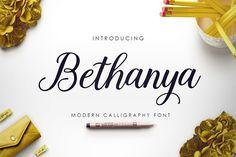 Bethanya Script by Megatype on @creativemarket