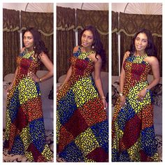 Ankara Style for Ladies . Ankara Style for Ladies Ankara Maxi Dress, African Maxi Dresses, African Wedding Dress, African Attire, African Wear, African Women, Dashiki Dress, Ankara Gowns, Prom Dress