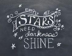 "http://www.hollybrookejones.com/stars_shine.pdf   Please enjoy this free 8.5 x 11"" PDF Chalkboard Art printable download. ""Even stars need ..."