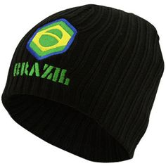 Bad Boy Black Brazil Knit Beanie