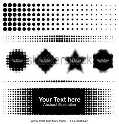Abstract Halftone Design Elements, raster illustration