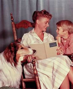 Lassie...Watched every Sunday evening before Ed Sullivan and cried when the credits rolled and Lassie lifted her paw:)