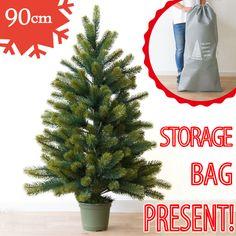 【RS GLOBAL TRADE 】。クリスマスツリー 90cm【収納バッグ付き】送料無料【RS GLOBAL TRADE /PLASTIFLOR】