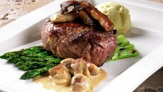 Filet Mignon with Porcini Frisk, Catering, Steak, Food Porn, Food And Drink, Beef, Dishes, Recipes, Wedding Ideas