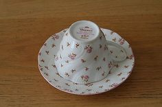 Rosina China Co Queen's Fleur Pink Roses Tea Cup and Saucer - EUC