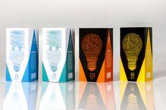 Luminous Light-bulb packagaing design #design #identity #light