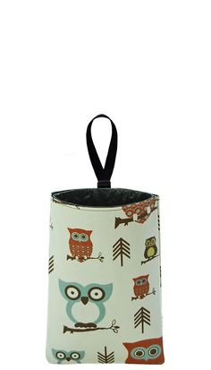 Auto Trash  Car Litter Bag  Owls by TheModMobile on Etsy, $19.00