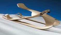 Lesto plywood sled for adrenal-gushing green speeds