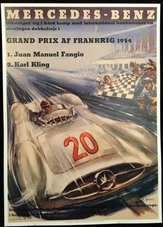 Mercedes, Grand prix of France 1954 by Hans Liska.