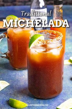 Michelada Recipe - Spicy Mexican Beer and Tomato Juice Cocktail - Try this refreshing Michelada recipe a classic Mexican cocktail made with beer Clamato juice lime juice Worcestershire sauce soy sauce hot sauce and more I like mine spicy Alcohol Drink Recipes, Beer Recipes, Spicy Recipes, Mexican Recipes, Mexican Cocktails, Cocktail Drinks, Mexican Alcoholic Drinks, Cocktail Recipes, Hawaiian Drinks