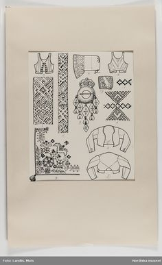 Folklore, Regional, Folk Costume, Pattern Making, Textile Design, 18th Century, Vikings, Sweden, Scandinavian