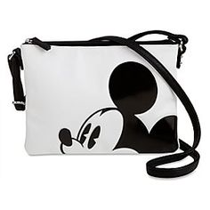 [Enor-mouse style]Go hands-free with the leader of the club and you'll surely lead the trends. This stylish crossbody bag stars Mickey in cutest-ever friendly fashion. Disney Handbags, Disney Purse, Disney Nerd, Mickey Mouse And Friends, Mickey Minnie Mouse, Backpack Purse, Crossbody Bag, Mini Mochila, Diaper Bag