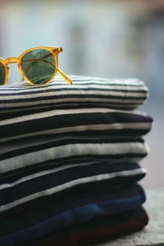 Stripes and cool shades, some of my faves