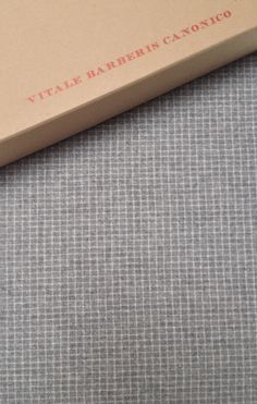 Light gray & white grid-check flannel by Vitale Barberis Canonico...The next big design for suits.