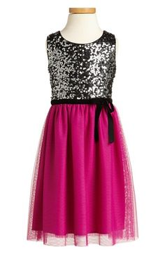 Zunie Sequin Sleeveless Dress (Little Girls & Big Girls) | Nordstrom. They would need to buy it NOW - on sale for $35