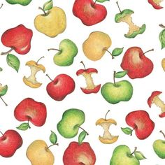 It's Elementary Apples on White